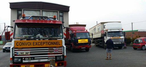 caravan transport France